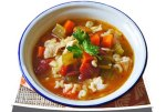 Alphabet bean soup by Nancy Barber