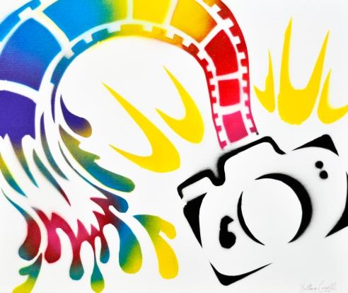 Flash of Paint  Kaitlan Corsell Spray Paint Art