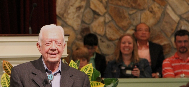 President Jimmy Carter is still revered today in his home of Plains, Georgia.