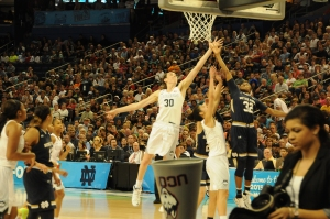 UConn's Breanna Stewart fights for a rebound on her way to winning Most Outstanding Player of the Final Four tournament.