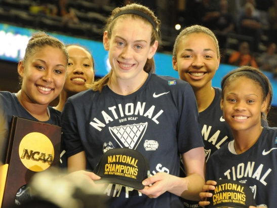 After winning the 2015 National Championship, the UConn women's basketball team cements themselves as one of the greatest collegiate sports teams of all time.