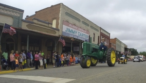 Peanuts are a way of life in Plains, Georgia, as noted by the annual Peanut Parade.